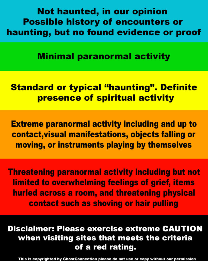 HAUNTINGS CHART COPYRIGHT PROTECTED IMAGE DO NOT USE WITHOUT PERMISSION